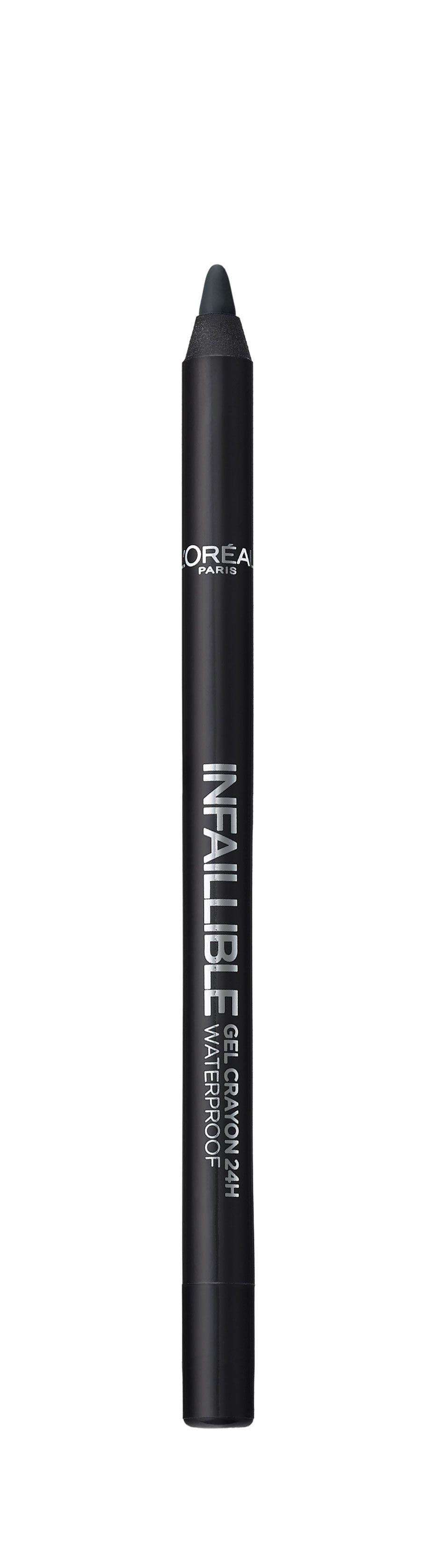 LOreal Paris Стойкий гелевый карандаш для глаз Infaillible, Оттенок 1, На черной сторонеA8994800Насыщенные пигменты и гелевая основа карандаша способствуют точному нанесению и устойчивому водостойкому результату на 24 часа. Множество оттенков – от базовых до самых ярких – для разнообразных вариантов макияжа.