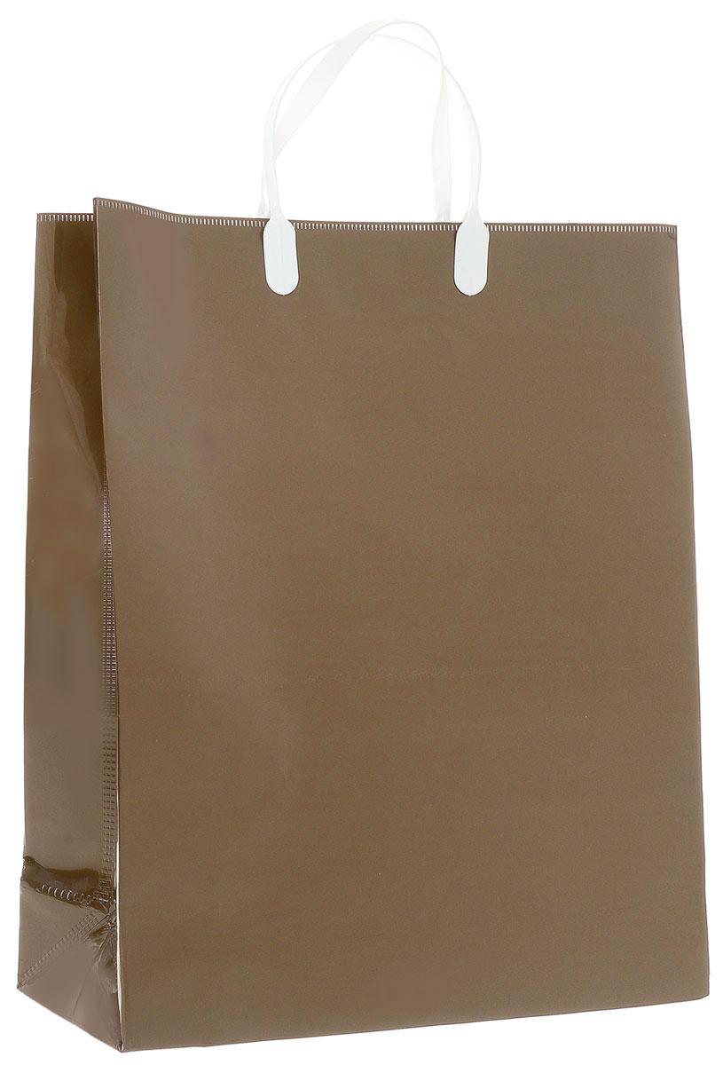 Пакет подарочный Bello, цвет: коричневый, 40 х 32 х 10 см. SBUL10SBUL10-2Подарочный пакет Bello, изготовленный из полипропилена, станет незаменимым дополнением к выбранному подарку. Дно изделия укреплено картоном, который позволяет сохранить форму пакета и исключает возможность деформации дна под тяжестью подарка. Для удобной переноски на пакете имеются две пластиковые ручки. Подарок, преподнесенный в оригинальной упаковке, всегда будет самым эффектным и запоминающимся. Окружите близких людей вниманием и заботой, вручив презент в нарядном, праздничном оформлении. Грузоподъемность: 12 кг. Морозостойкость: до -30°С.