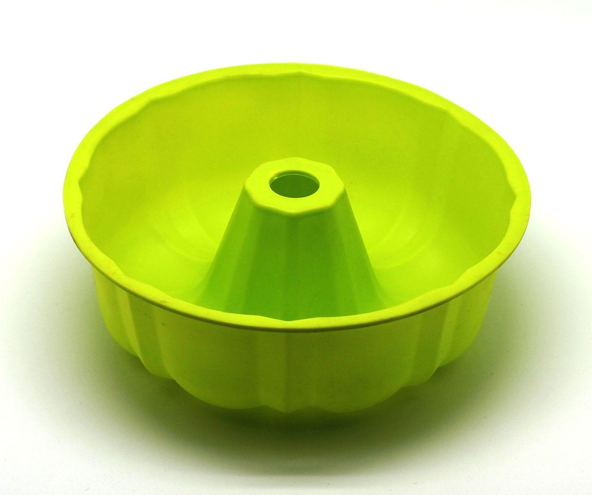 Форма для выпечки Atlantis Шарлотка, цвет: зеленый, диаметр 25,4 см. SC-BK-002-GSC-BK-002-GФорма для выпечки силиконовая Atlantis — это отличная форма для выпекания пирога, которая сделана из пищевого силикона. Посуда идеально подходит для выпекания различной выпечки, ведь форма предотвращает тесто от «вытекания», при этом, предоставляя возможность с легкостью извлечь готовую выпечку и получить на ней красивый рисунок. Пищевой силикон абсолютно безопасен и не вступает в реакцию с продуктами, а так же не влияет на запах и вкус готового изделия.