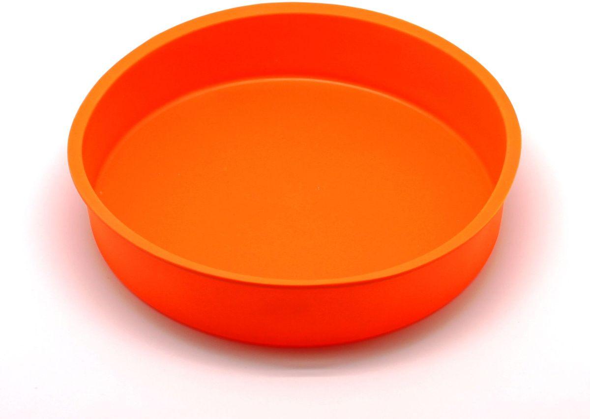 Форма для выпечки Atlantis Торт, цвет: оранжевый, диаметр 24,8 см. SC-BK-004-OSC-BK-004-OФорма для выпечки силиконовая Atlantis — это отличная форма для выпекания пирога, которая сделана из пищевого силикона. Посуда идеально подходит для выпекания различной выпечки, ведь форма предотвращает тесто от «вытекания», при этом, предоставляя возможность с легкостью извлечь готовую выпечку и получить на ней красивый рисунок. Пищевой силикон абсолютно безопасен и не вступает в реакцию с продуктами, а так же не влияет на запах и вкус готового изделия.