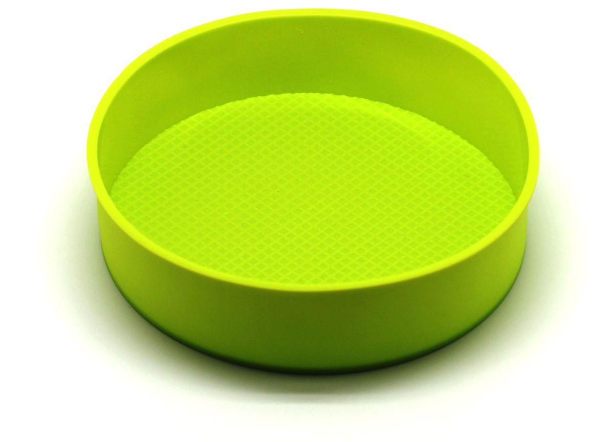 Форма для выпечки Atlantis, цвет: зеленый, диаметр 24 см. SC-BK-013-GSC-BK-013-GФорма для выпечки силиконовая Atlantis — это отличная форма для выпекания пирога, которая сделана из пищевого силикона. Посуда идеально подходит для выпекания различной выпечки, ведь форма предотвращает тесто от «вытекания», при этом, предоставляя возможность с легкостью извлечь готовую выпечку и получить на ней красивый рисунок. Пищевой силикон абсолютно безопасен и не вступает в реакцию с продуктами, а так же не влияет на запах и вкус готового изделия.