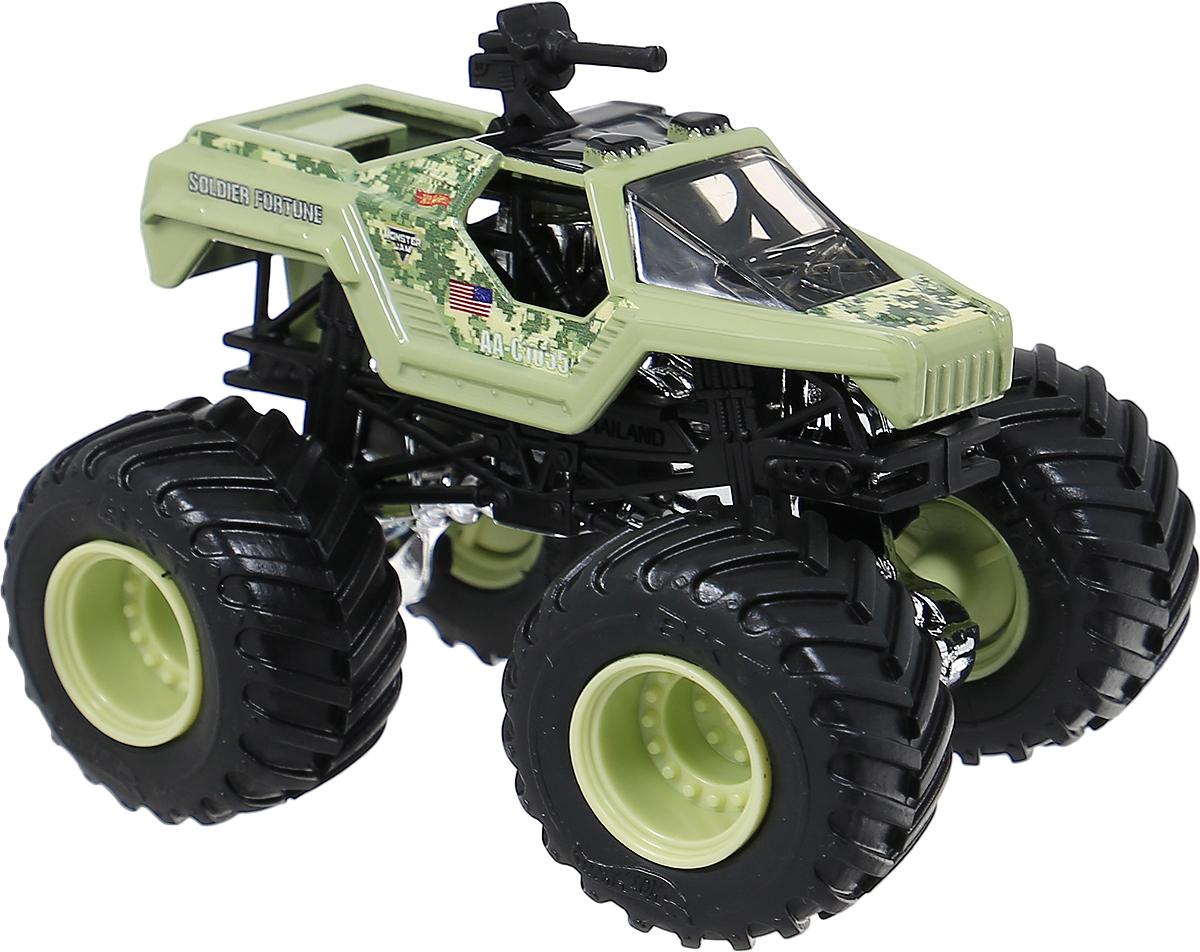 Hot Wheels Monster Jam Машинка Soldier FortuneBHP37_DWN20Машинка Hot Wheels Monster Jam. Soldier Fortune - знаменитая модель легендарного автомобиля с большими колесами. Литой корпус, сверкающая кабина, хромированные диски и неповторимый тюнинг - то, что выделяет эту модель среди других. Ваш ребенок будет в восторге от такого подарка!