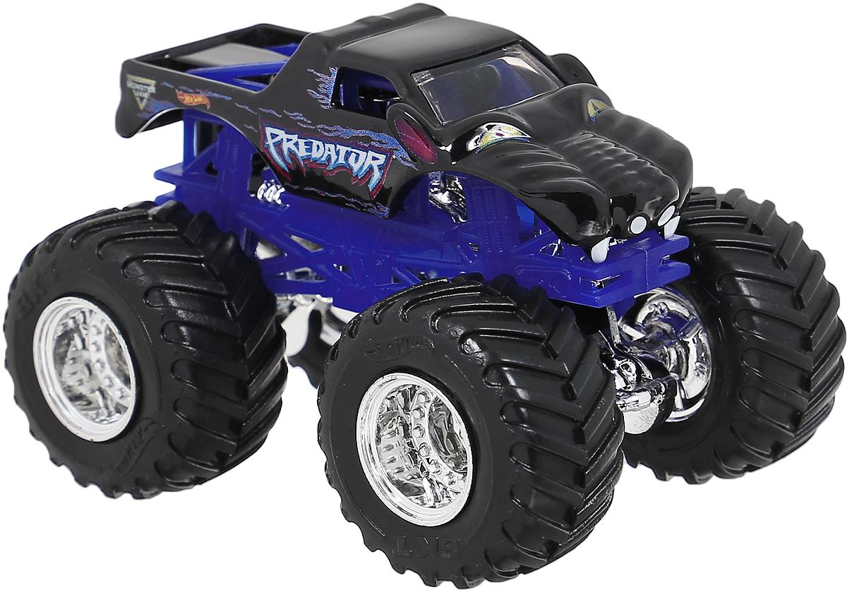 Hot Wheels Monster Jam Машинка PredatorBHP37_DRR78Машинка Hot Wheels Monster Jam. Predator - знаменитая модель легендарного автомобиля с большими колесами. Литой корпус, сверкающая кабина, хромированные диски и неповторимый тюнинг - то, что выделяет эту модель среди других. Ваш ребенок будет в восторге от такого подарка!
