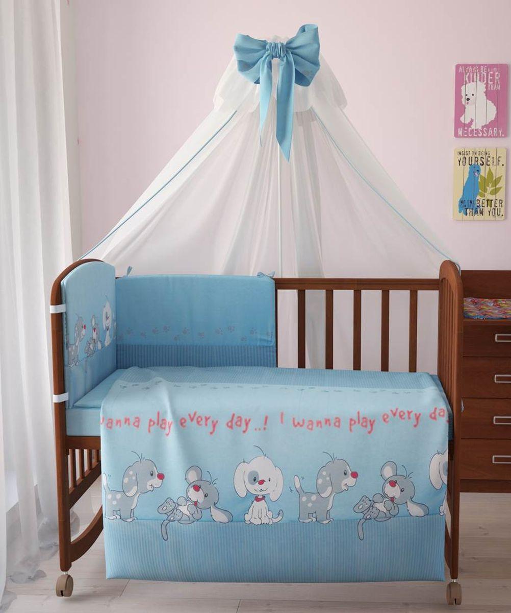 Фея Комплект белья для новорожденных Веселая игра цвет голубой 7 предметов 1011-11011-1