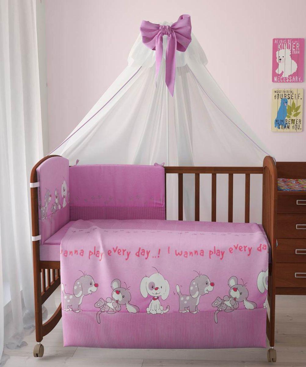 Фея Комплект белья для новорожденных Веселая игра цвет розовый 7 предметов 1011-21011-2