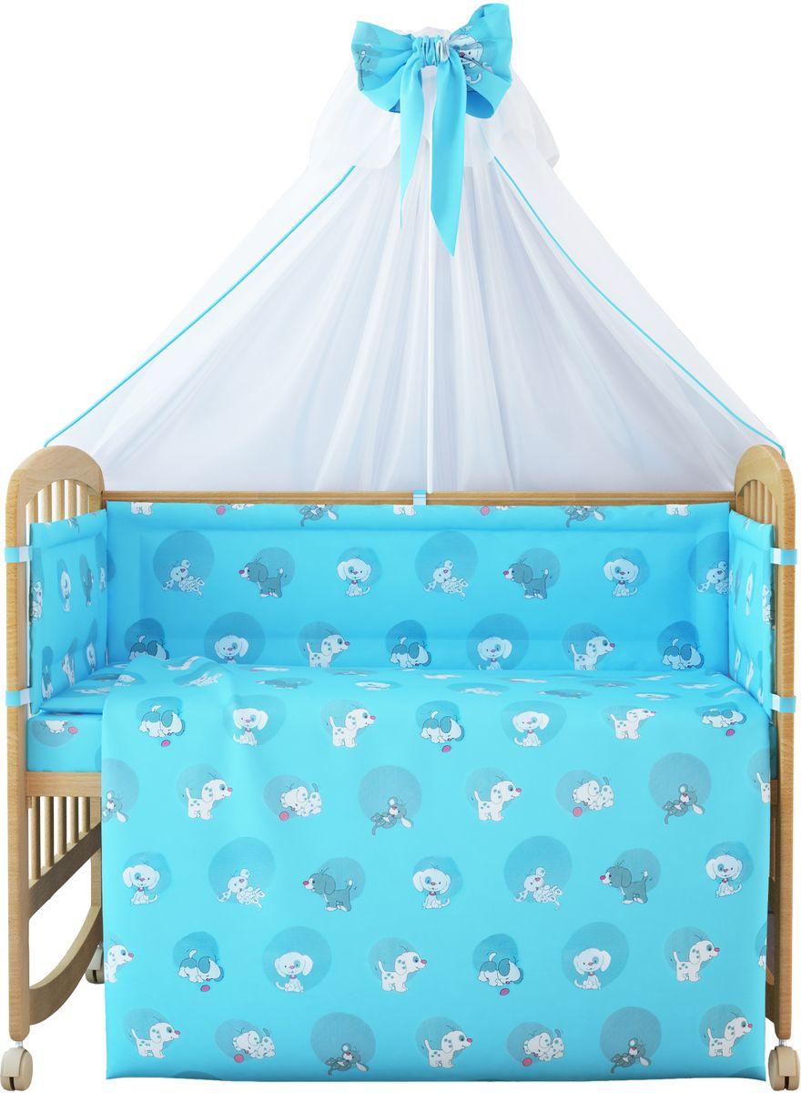 Фея Комплект белья для новорожденных Наши друзья цвет голубой 7 предметов1012-1
