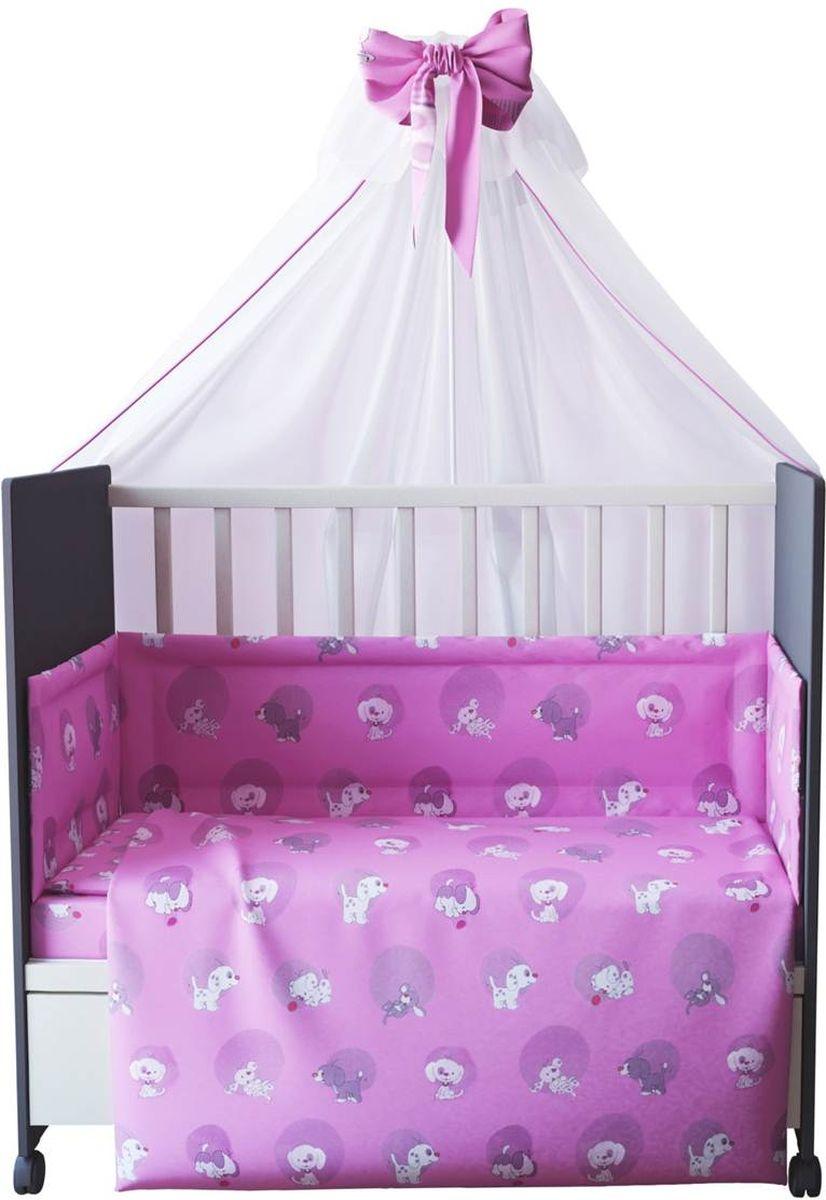 Фея Комплект белья для новорожденных Наши друзья цвет розовый 7 предметов1012-2