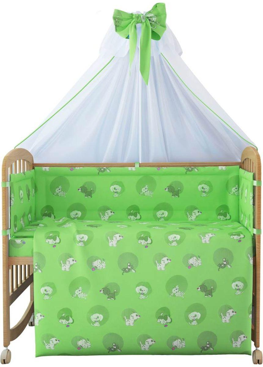 Фея Комплект белья для новорожденных Наши друзья цвет зеленый 7 предметов1012-4
