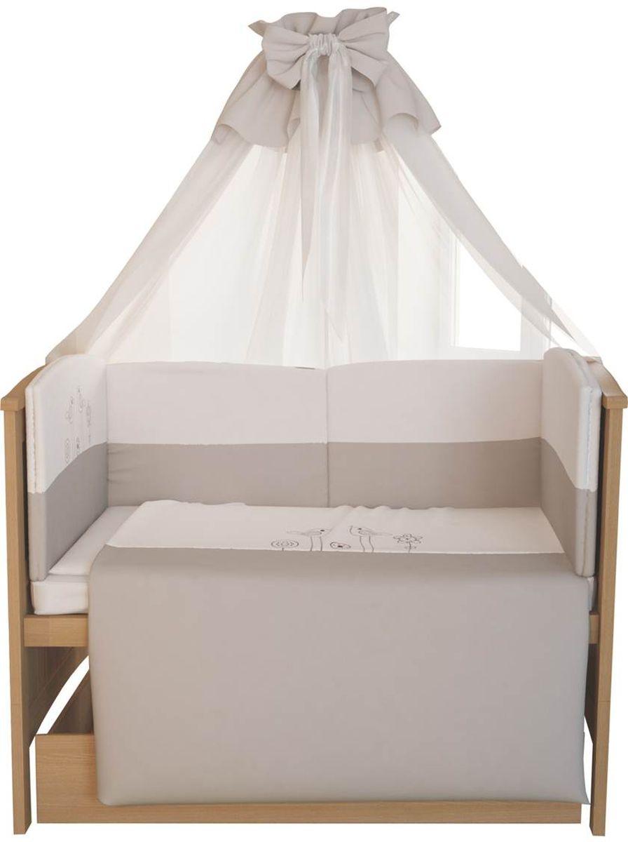 Fairy Комплект белья для новорожденных Волшебная полянка цвет белый коричневый 7 предметов1017.100