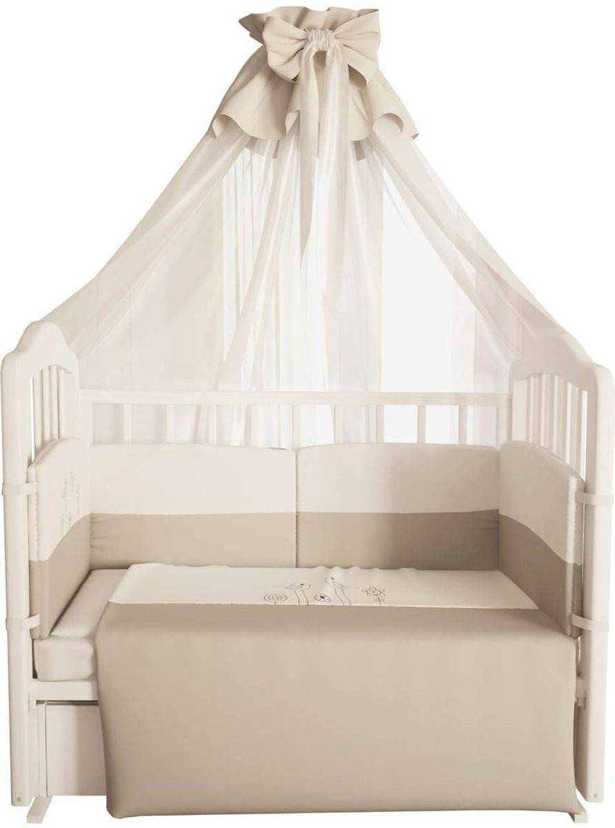 Fairy Комплект белья для новорожденных Волшебная полянка цвет белый бежевый 7 предметов1017
