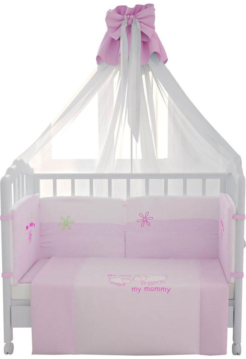 Fairy (ВПК) Fairy Комплект белья для новорожденных Белые кудряшки цвет белый розовый 7 предметов 1019.2