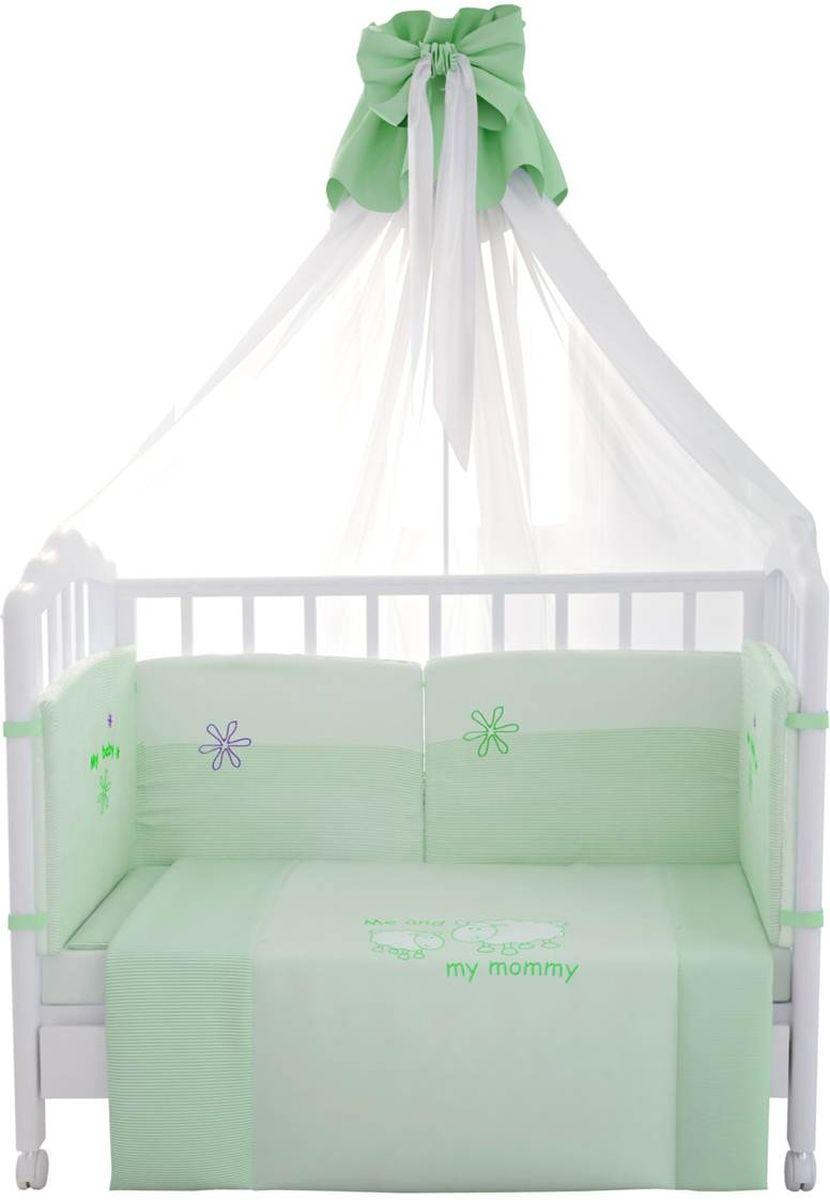 Fairy (ВПК) Fairy Комплект белья для новорожденных Белые кудряшки цвет белый зеленый 7 предметов 1019.4