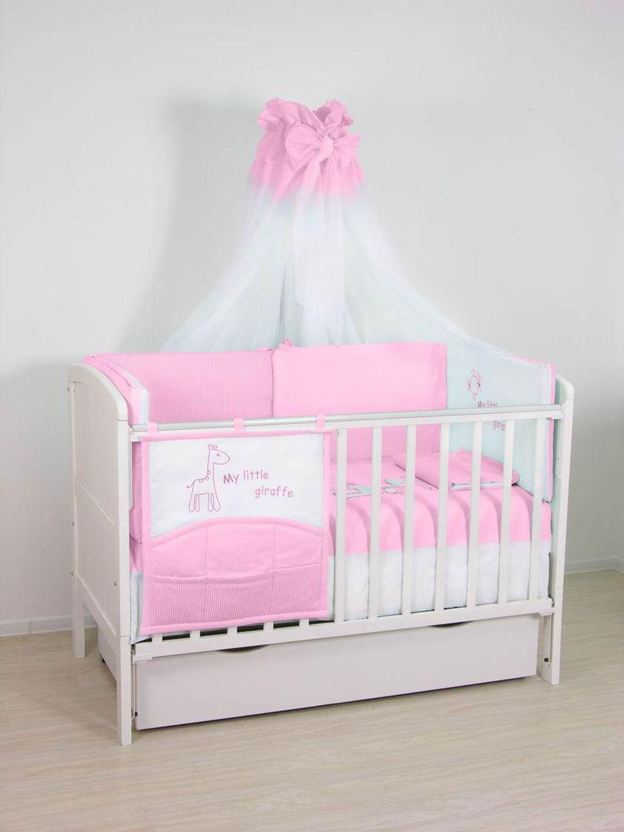 Fairy (ВПК) Fairy Комплект белья для новорожденных Жирафик цвет белый розовый 7 предметов 1020.2