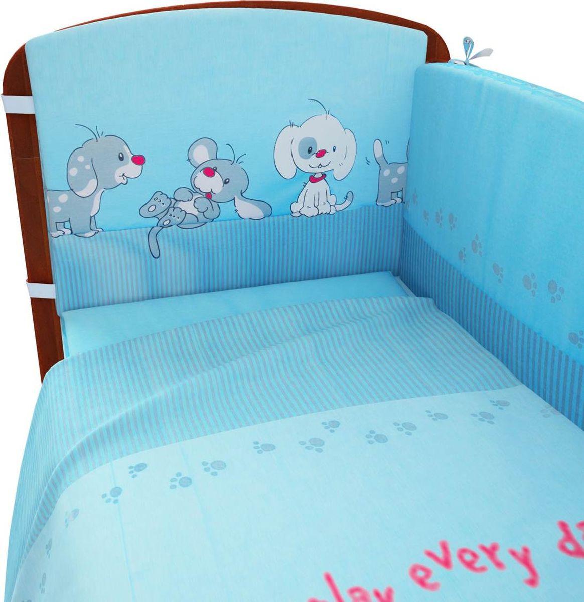 Фея Комплект белья для новорожденных Веселая игра цвет голубой 6 предметов1064-1