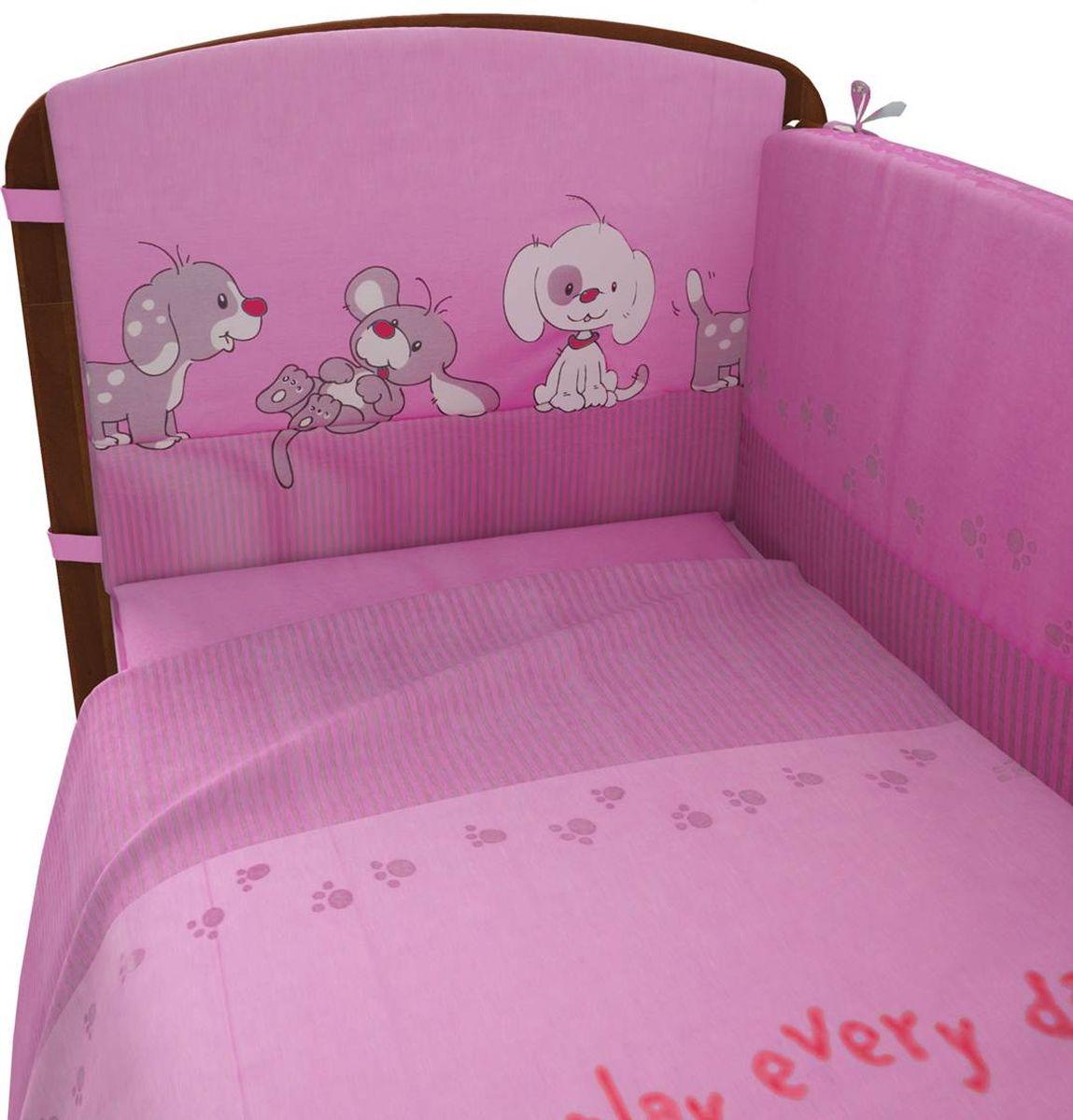 Фея Комплект белья для новорожденных Веселая игра цвет розовый 6 предметов1064-2