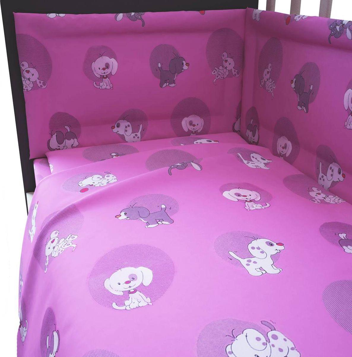 Фея Комплект белья для новорожденных Наши друзья цвет розовый 6 предметов1065-2