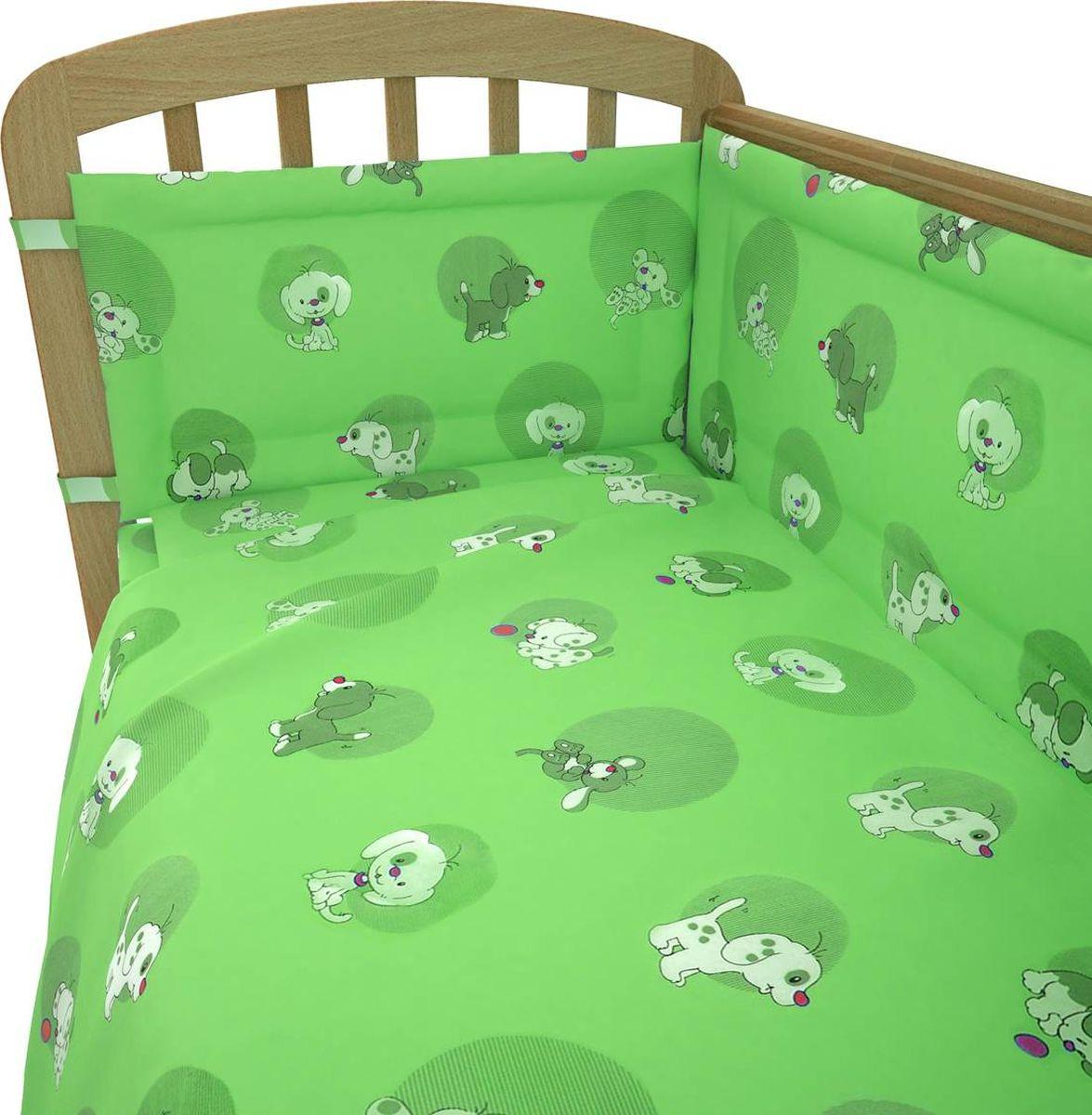 Фея Комплект белья для новорожденных Наши друзья цвет зеленый 6 предметов1065-4