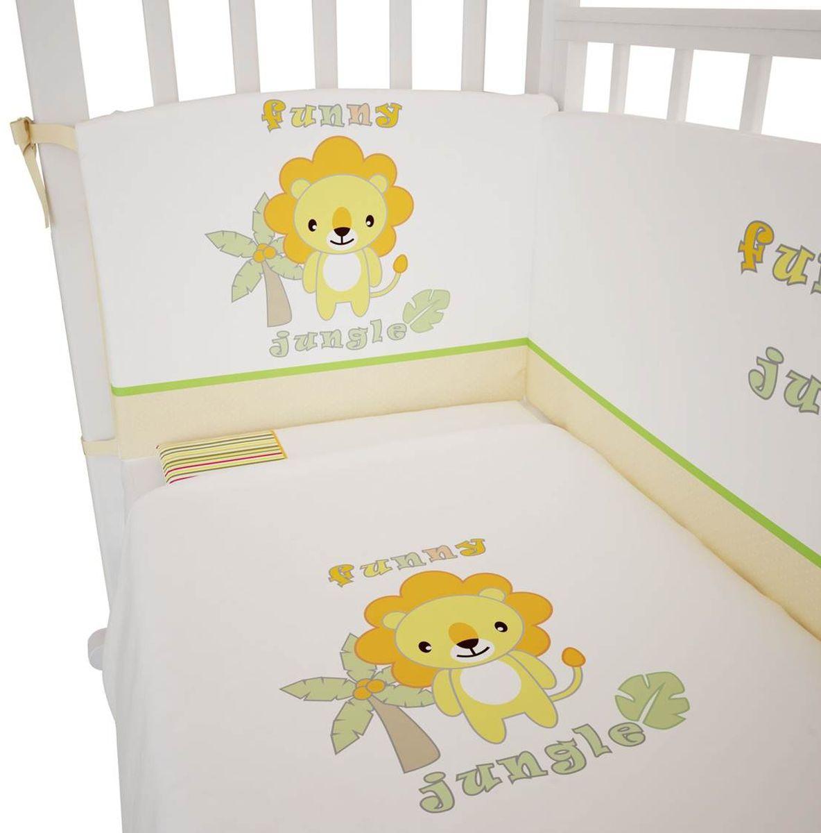 Fairy Комплект белья для новорожденных Джунгли цвет белый 11981198