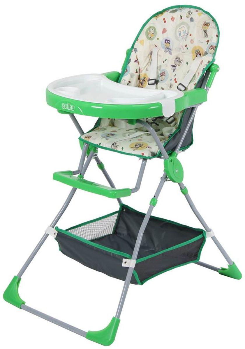 Selby Стульчик для кормления Совы цвет зеленый 1294-051294-05
