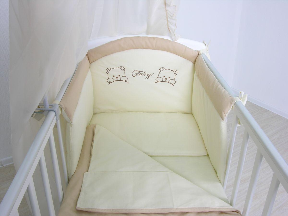 Fairy Комплект белья для новорожденных цвет бежевый коричневый 4 предмета5588-02