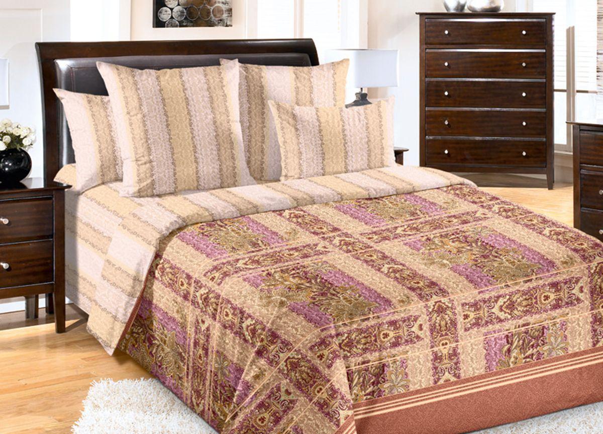 Комплект белья Primavera Льняная палитра, 2-спальный, наволочки 70x70, цвет: бежевый, розовый82075