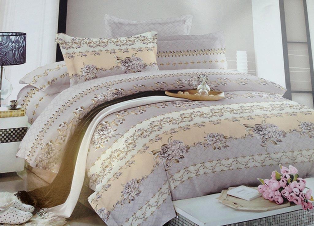 Комплект белья Primavera Комплимент, семейный, наволочки 70x70, 50x70, цвет: серый89937