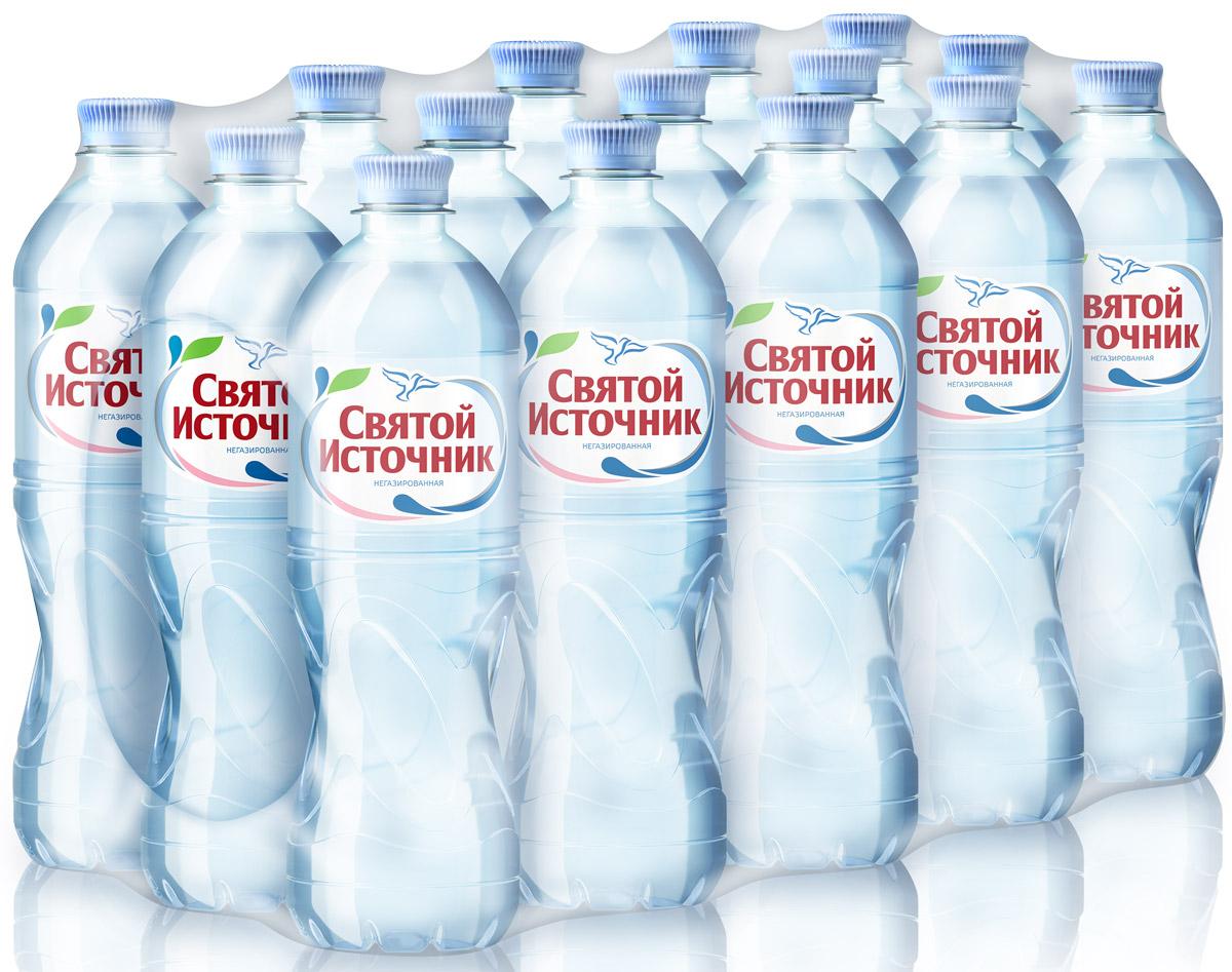 Святой Источник вода Спорт природная питьевая негазированная, 15 шт по 0,75 л