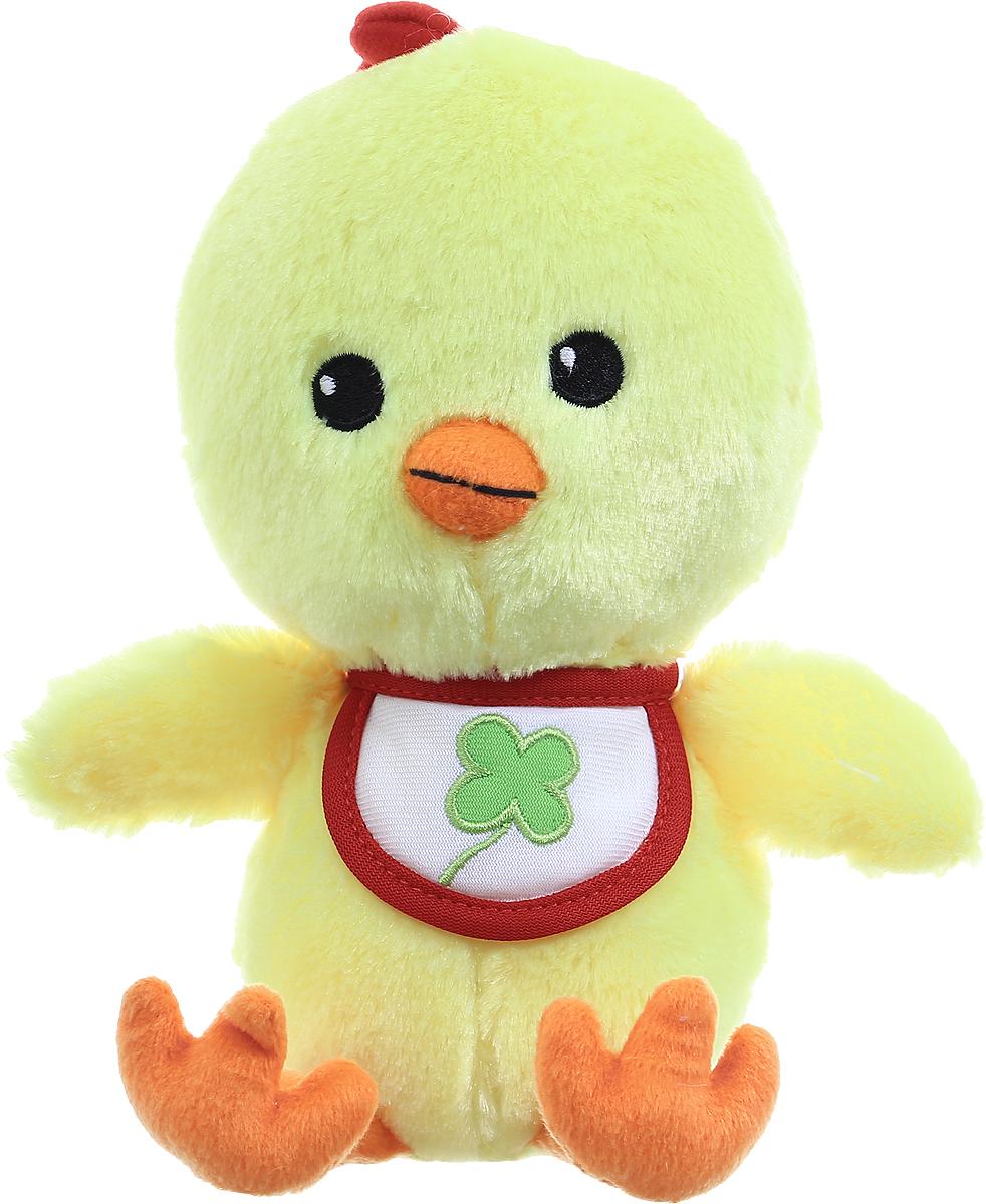 Gulliver Мягкая игрушка Цыпленок Цыпа в нагруднике цвет желтый 20 см