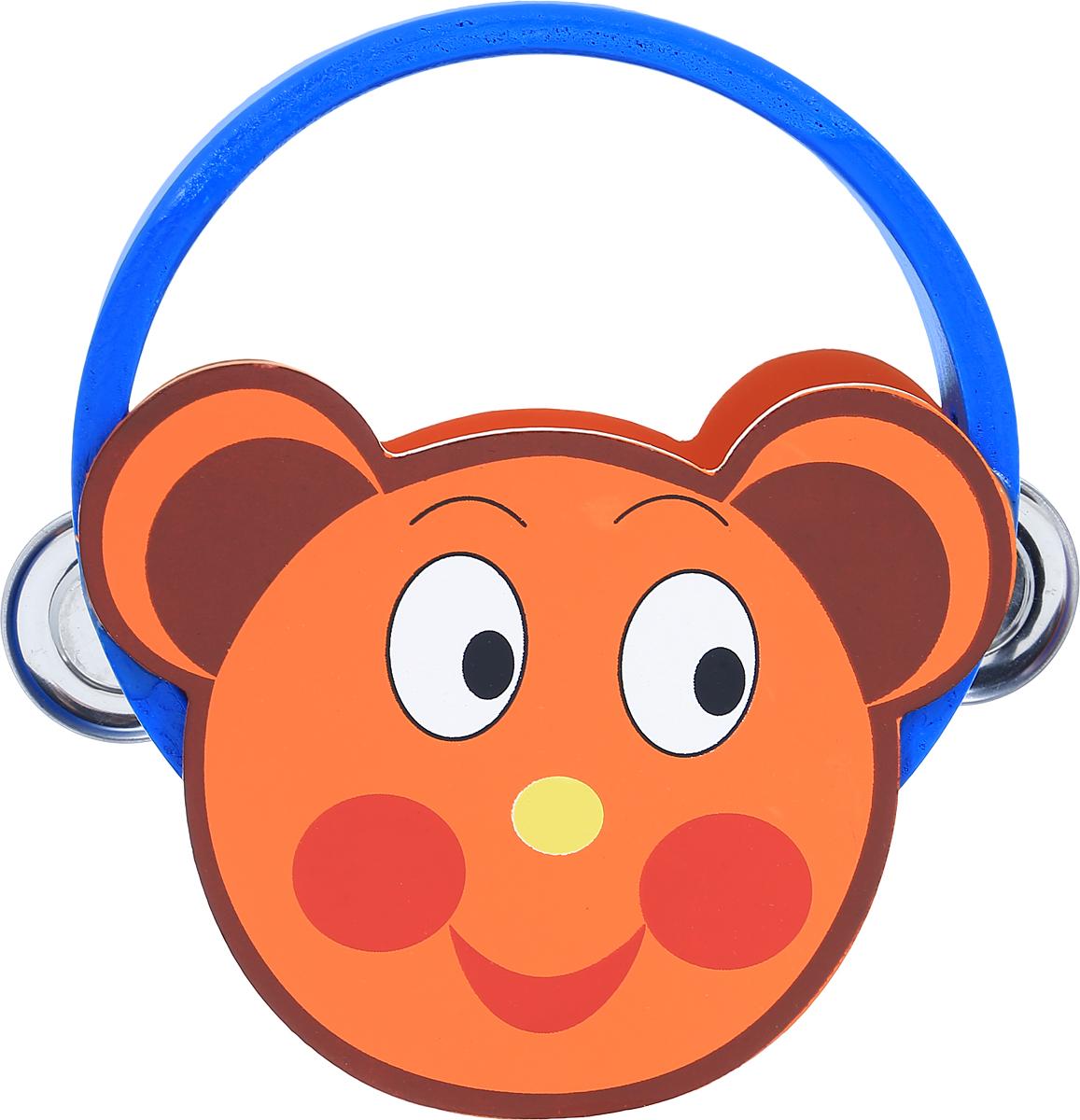 Фабрика Фантазий Бубен Медвежонок40072_оранжевый, синийБубен Фабрика Фантазий Медвежонок доставит огромное удовольствие вашему ребенку и вдохновит его к занятию музыкой. Музыкальный инструмент выполнен в оригинальном дизайне: поверхность бубна деревянная, в виде мордочки медведя, а по бокам ободка имеются прорези со вставленными в них металлическими пластинами. Играть на бубне можно двумя способами: встряхивая его или ударяя об его поверхность. Бубен Фабрика Фантазий Медвежонок способствует развитию звуковосприятия, чувства ритма и музыкальных способностей у ребенка.