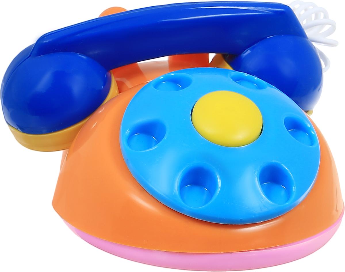 Аэлита Развивающая игрушка Телефон детский цвет оранжевый голубой