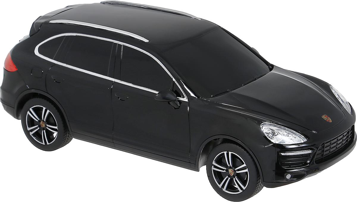 Rastar Радиоуправляемая модель Porsche Cayenne Turbo цвет черный масштаб 1:2446100Радиоуправляемая модель Rastar Porsche Cayenne Turbo обязательно привлечет внимание взрослого и ребенка и понравится любому, кто увлекается автомобилями. Все дети хотят иметь в наборе своих игрушек ослепительные, невероятные и крутые автомобили на радиоуправлении. Тем более если это автомобиль известной марки с проработкой всех деталей, удивляющий приятным качеством и видом. Маневренная и реалистичная уменьшенная копия Porsche Cayenne Turbo выполнена в точной детализации с настоящим автомобилем в масштабе 1:24. Управление машинкой происходит с помощью удобного пульта. Автомобиль двигается вперед и назад, поворачивает направо и налево. Модель изготовлена из пластика с металлическими элементами. Колеса игрушки прорезинены и обеспечивают плавный ход, машинка не портит напольное покрытие. Радиоуправляемые игрушки способствуют развитию координации движений, моторики и ловкости. Ваш ребенок часами будет играть с моделью, придумывая различные истории и устраивая...