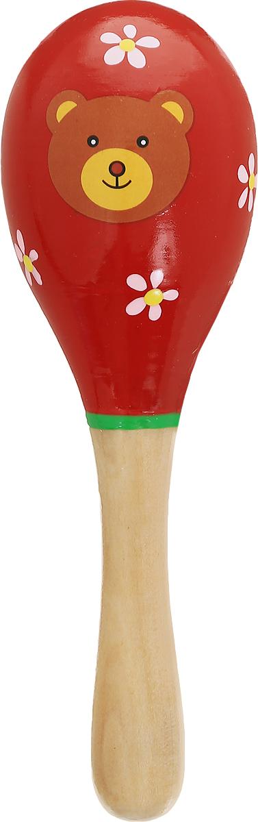 Мир деревянных игрушек Маракас МишкаД209_красныйМаракас Мир деревянных игрушек Мишка может выступать в качестве погремушки, а также он прекрасно подойдет для занятий музыкальным творчеством. При потряхивании маракас издает характерный гремящий звук. Маракас изготовлен из высококачественного натурального дерева и украшен изображением забавного мишки. Игрушка помогает малышам развить чувство ритма, творческое мышление и воображение, а также способствует самовыражению.