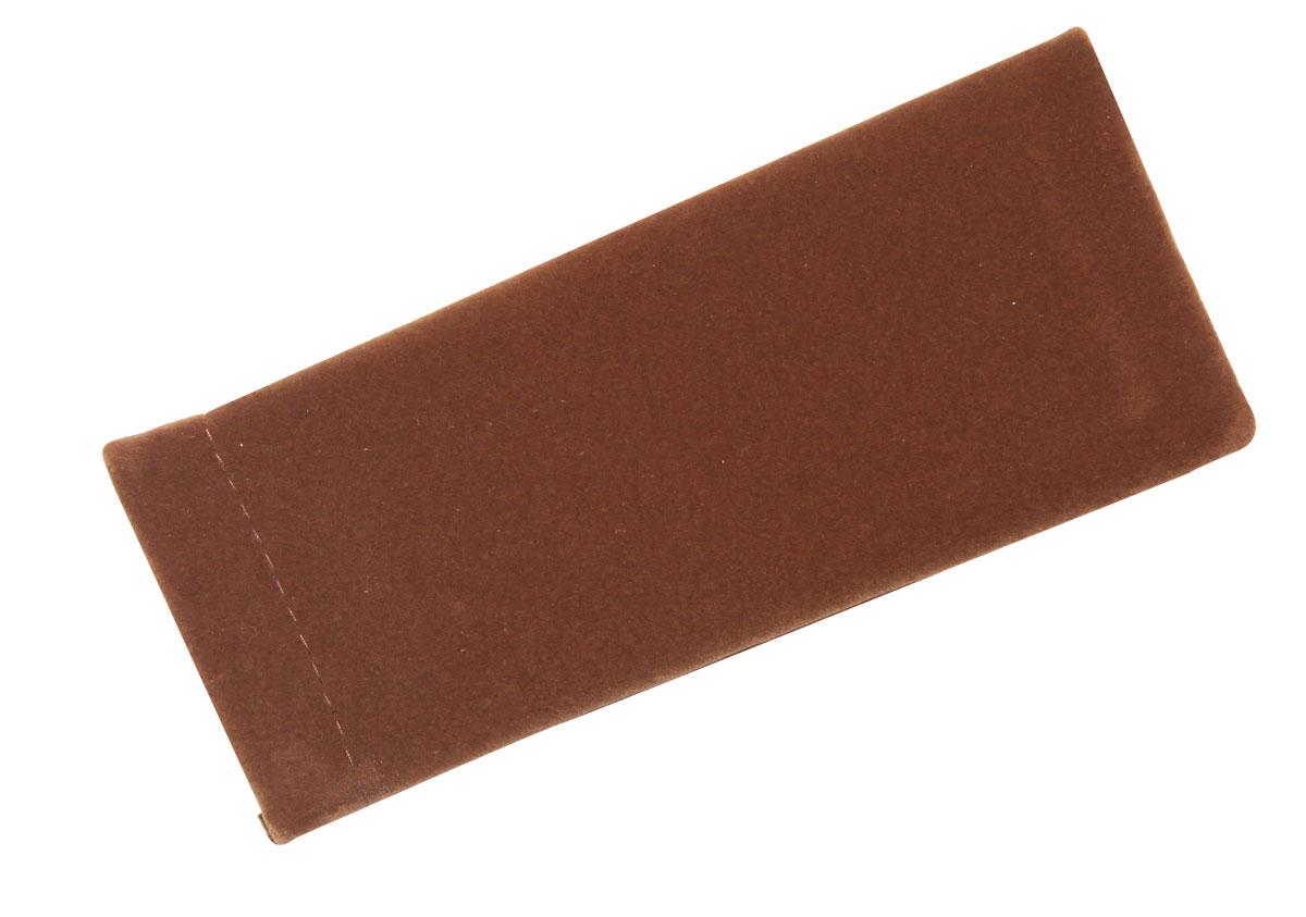 Proffi Home Футляр для очков Fabia Monti текстильный, мягкий, узкий, цвет: коричневый