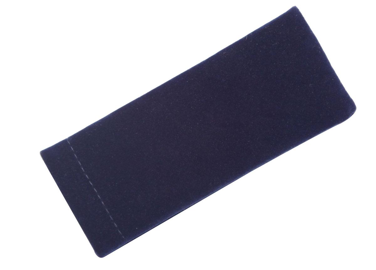 Proffi Home Футляр для очков Fabia Monti текстильный, мягкий, узкий, цвет: синий