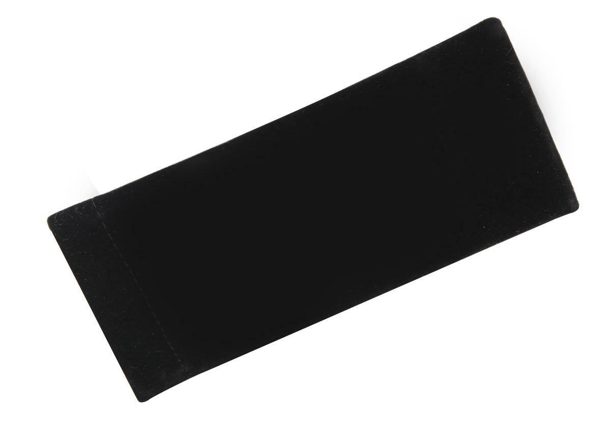 Proffi Home Футляр для очков Fabia Monti текстильный, мягкий, узкий, цвет: черный