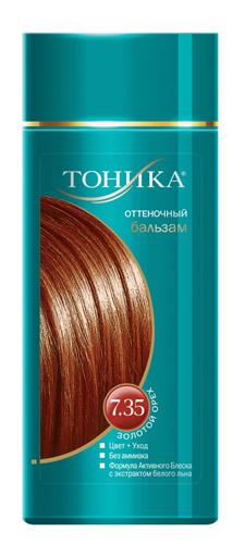 Тоника Оттеночный бальзам 7.35 Золотой орех, 150 мл6109Красивые и здоровые волосы- важный элемент имиджа! Яркие волосы выделяют женщину из толпы, вы будете всегда в центре внимания! Подходит для светлых и светло-русых волос Не содержит спирт, аммиак и перекись водорода Содержит уникальный экстракт белого льна Красивый оттенок + дополнительный уход Стойкий цвет без вреда для волос