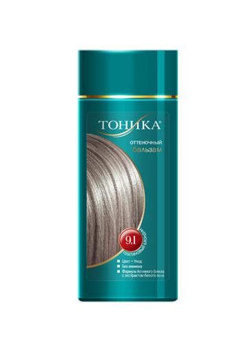 Тоника Оттеночный бальзам 9.1 Платиновый блондин, 150 мл6120Хит продаж! Выбирайте платиновый цвет волос, который обязательно привлечет внимание всех вокруг! Красивые и здоровые волосы- важный элемент имиджа! Подходит для осветленных и светлых волос Не содержит спирт, аммиак и перекись водорода Содержит уникальный экстракт белого льна Красивый оттенок + дополнительный уход Стойкий цвет без вреда для волос
