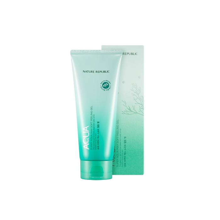 Nature Republic Мягкий пилинг-гель Super Aqua Max Soft Peeling Gel, 155 мл423484Пилинг выравнивает текстуру кожи, восстанавливает свежий, чистый тон кожи, убирает тусклость и вялость кожи. Бережно очищает кожу лица от мертвых клеток, способствует обновлению клеток и микроциркуляции. Поддерживает оптимальный увлажн. уровень, не раздражает кожу лица.