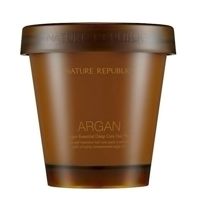 Nature Republic Укрепляющая маска для волос Argan Essential Deep Care Hair Pack, 200 мл423521Маска содержит масло арганы (200 мг), масло шиповника, масло примулы вечерней и т.д. Высоко питательная, обогащенная органическими маслами арганы, примулы вечерней и шиповника, обеспечивает интенсивное увлажнение и питание для поврежденных волос. Способствует мягкости и шелковистости, усиливает блеск и сияние волос, придает им неповторимую гладкость. Масло примулы вечерней эффективно против выпадения волос, содержит незаменимые жирные кислоты омега-3, которые помогут восстановлению волос. Не содержит силиконов, искусственных красителей, минеральных масел, спиртов, материалов животного происхождения, поверхностно-активных сульфатов.