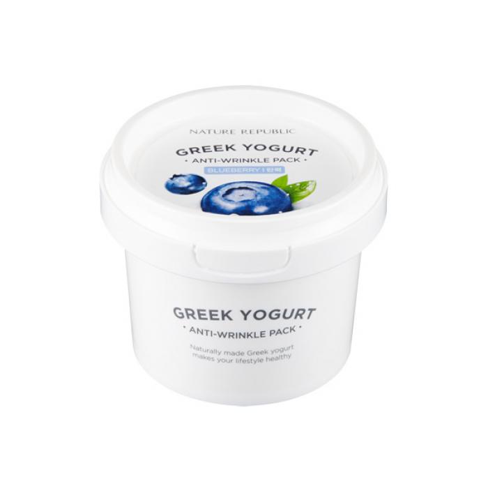 Nature Republic Маска для лица на основе греческого йогурта разглаживающая Greek Yogurt Anti-Wrinkle Pack Blueberry, 130 мл429196Маска для ежедневного применения, не требует смывания. Питает, способствует лучшей регенерации клеток кожи, удерживает влагу, придает здоровый вид коже. Некомедогенно. Обладает антимикробными свойствами, ошелушивает ороговевшие частички и увлажняет кожу, разглаживает морщинки, восстанавливает РH баланс кожи. Оказывает сосудорасширяющее действие, улучшает макро- и микроциркуляцию, определяет благоприятное воздействие на клеточное питание тканей и процессы регенерации.