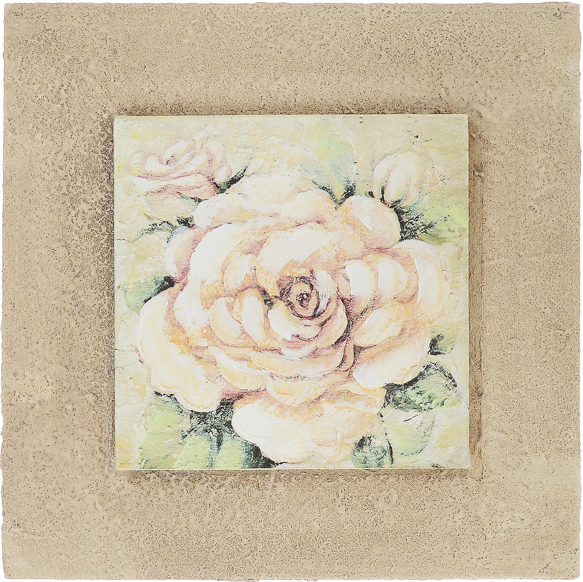 Картина-репродукция Феникс-Презент Белая роза, 25 х 25 х 3,5 см44438Картина-репродукция Феникс-презент Белая роза с основой из МДФ выполнена печатью на бумаге с ручной подрисовкой. На оборотной стороне имеется петля для подвешивания на стену. Такая картина - вдохновляющее декоративное решение, привносящее в интерьер нотки творчества и изысканности! Благодаря оригинальному дизайну картина Белая роза дополнит интерьер любого помещения, а также сможет стать изысканным подарком для ваших друзей и близких.