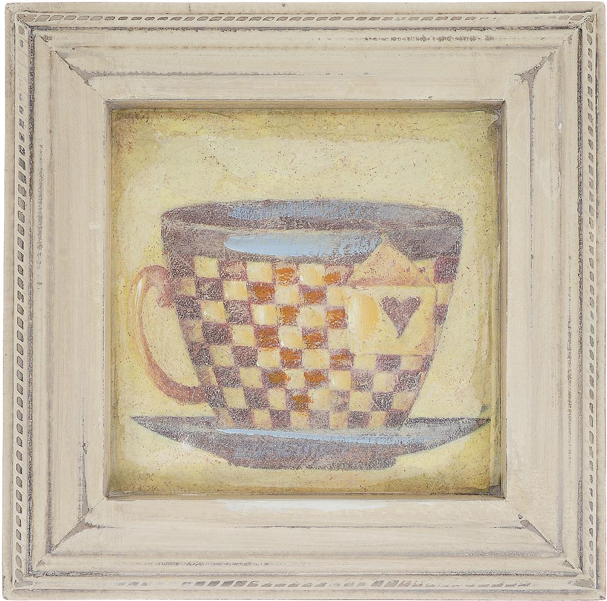 Картина-репродукция Феникс-Презент Чашка чая, 23,5 х 23,5 х 2 см44441Картина-репродукция Феникс-презент Чашка чая в рамке из МДФ выполнена печатью на бумаге с ручной подрисовкой. На оборотной стороне имеется петля для подвешивания на стену. Такая картина - вдохновляющее декоративное решение, привносящее в интерьер нотки творчества и изысканности! Благодаря оригинальному дизайну картина Чашка чая дополнит интерьер любого помещения, а также сможет стать изысканным подарком для ваших друзей и близких.