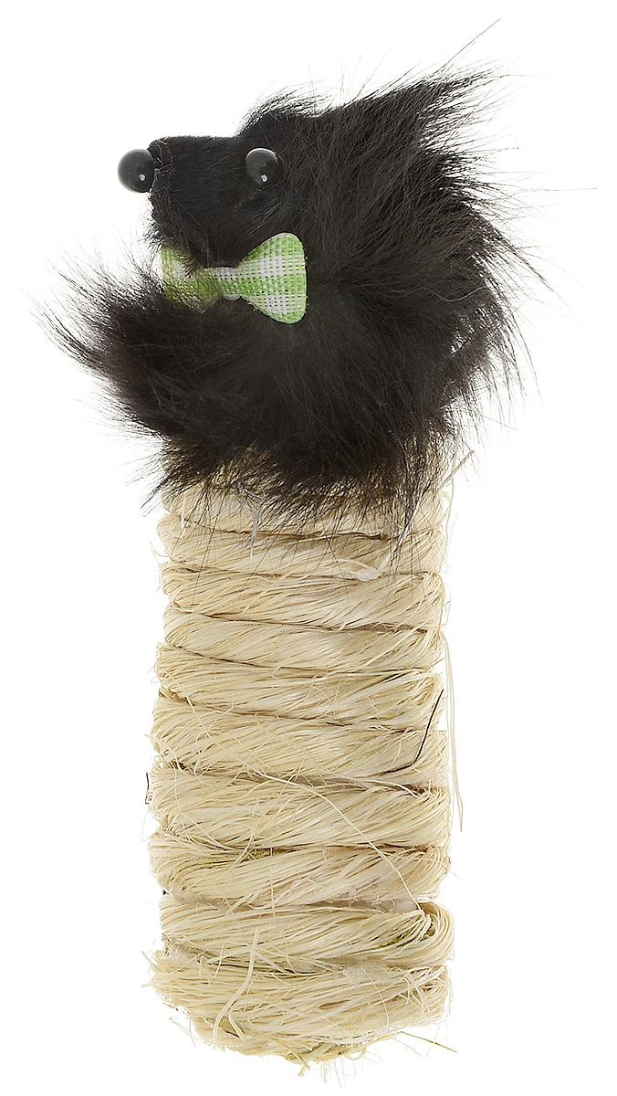 Игрушка-когтеточка для кошек Zoobaloo Мышка с бабочкой, длина 10 см328Игрушка-когтеточка Zoobaloo Мышка с бабочкой предназначена для кошек. Игрушка выполнена из сизаля. Верхняя часть выполнена из искусственного меха в виде мышиной мордочки. Игрушка снабжена бубенчиком. Когтеточка - превосходное приспособление для стачивания когтей. Изделие пропитано кошачьей мятой, которая очень нравится кошкам. УВАЖАЕМЫЕ КЛИЕНТЫ! Обращаем ваше внимание на возможные изменения в цветовом дизайне, связанные с ассортиментом продукции. Поставка осуществляется в зависимости от наличия на складе.