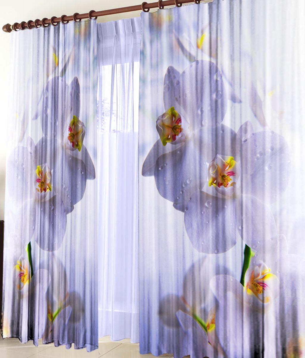 Комплект фотоштор Zlata Korunka Белая орхидея, на ленте, высота 270 см21006Для производства используется габардиновая ткань высочайшего качества. Фотошторы способны не пропускать самый яркий свет, их можно гладить и стирать. Уход: Бережная стирка при 30 градусах, деликатный отжим, отбеливание запрещено, гладить при t не более 150С. Светопоглощение 70%. Плотность ткани - 150 г/м2. Размер: шир. 150 х выс.270.х2 . Оттенок изделия может отличаться от представленного на сайте в силу особенностей цветопередачи фототехники и Вашего монитора.