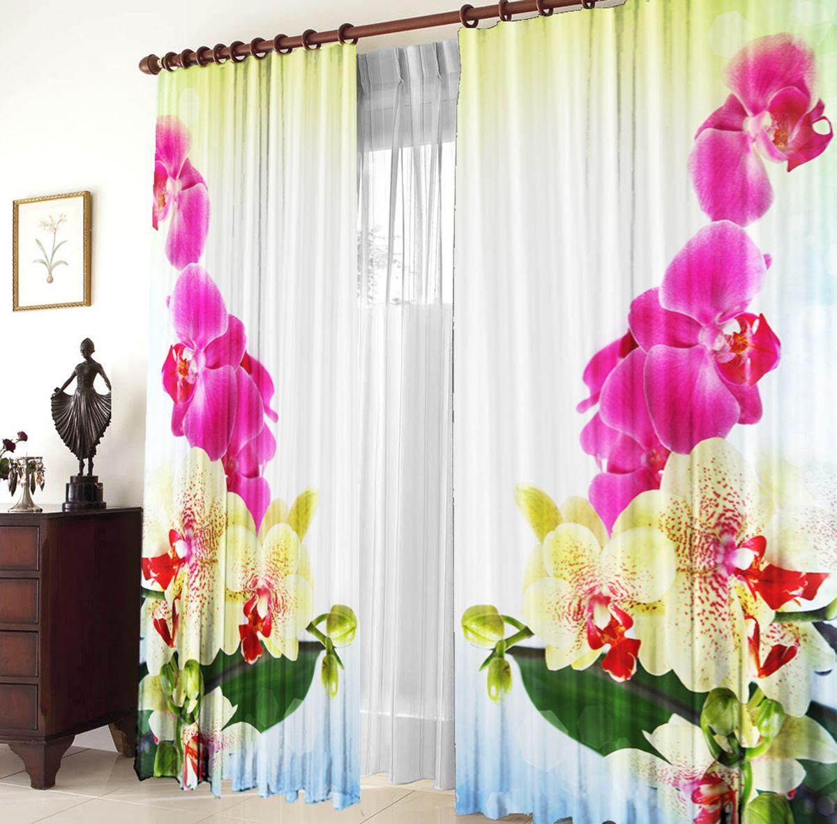 Комплект фотоштор Zlata Korunka Тигровая орхидея, на ленте, высота 270 см21033Для производства используется габардиновая ткань высочайшего качества. Фотошторы способны не пропускать самый яркий свет, их можно гладить и стирать. Уход: Бережная стирка при 30 градусах, деликатный отжим, отбеливание запрещено, гладить при t не более 150С. Светопоглощение 70%. Плотность ткани - 150 г/м2. Размер: шир. 150 х выс.270.х2 . Оттенок изделия может отличаться от представленного на сайте в силу особенностей цветопередачи фототехники и Вашего монитора.