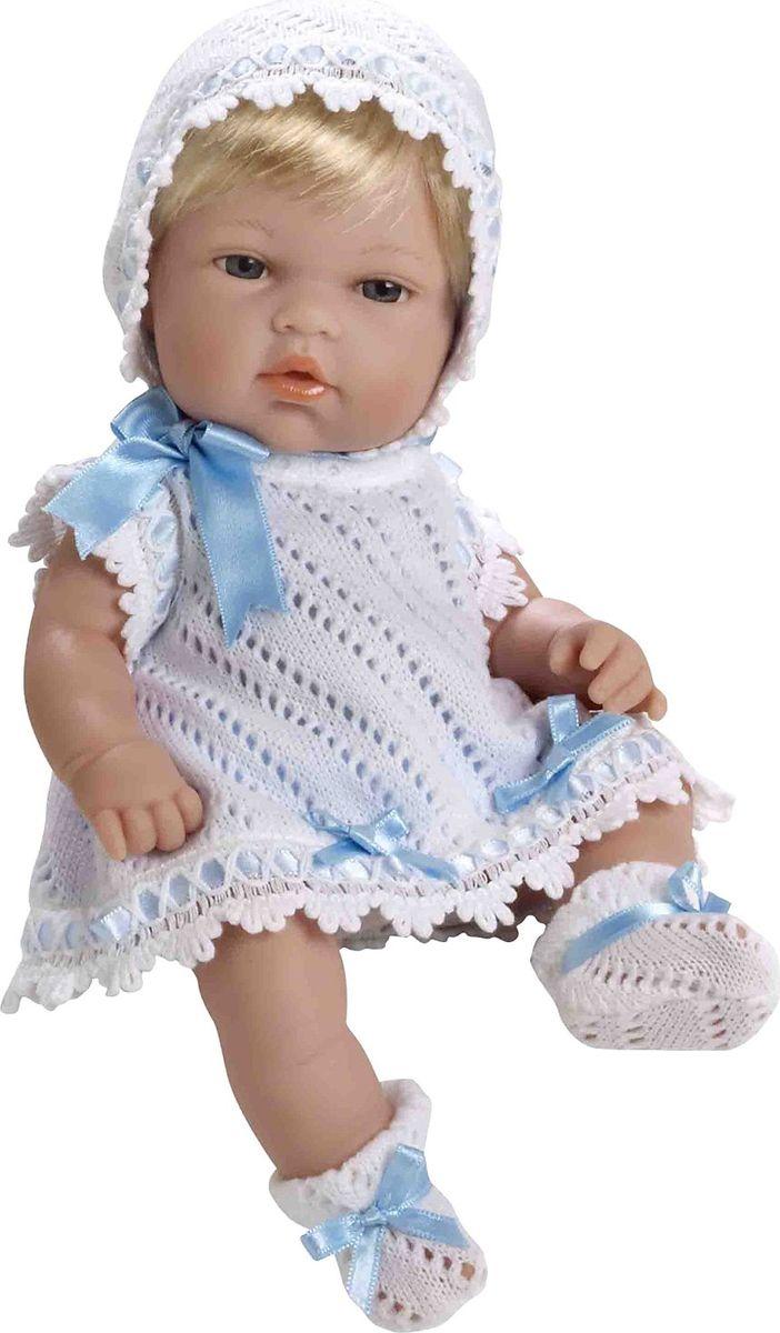 Arias Пупс цвет одежды белый голубой 33 см Т59269Т59269Изготовлено в Испании! Куклы Arias - это сочетание долгой семейной традиции, красивого дизайна и стремления к совершенству! Талантливые мастера испанской фабрики Arias создали премиальную коллекцию кукол под названием Elegance (Элеганс) - коллекцию, вдохновленную самой нежностью и элегантностью. Весь процесс производства Elegance взлелеян с величайшей заботой, начиная от момента идеи дизайна и тщательного выбора самых натуральных материалов, до создания разнообразных кукольных лиц высочайшей детализации. Благодаря сочетанию высокого качества и ручной работы куклы Aries являются лучшими в своем роде! Светловолосая кукла размером 33см одета в сатиновое розовое платье с отделкой трикотажем и атласом. Винил, использованный при производстве кукол, плотный и приятный на ощупь; он обработан так, что каждая складочка и морщинка выглядит очень естественно. Наряд создан из тех же материалов, что и одежда для новорожденных детей. У куклы ручки и ножки подвижны, глазки не закрываются, её...