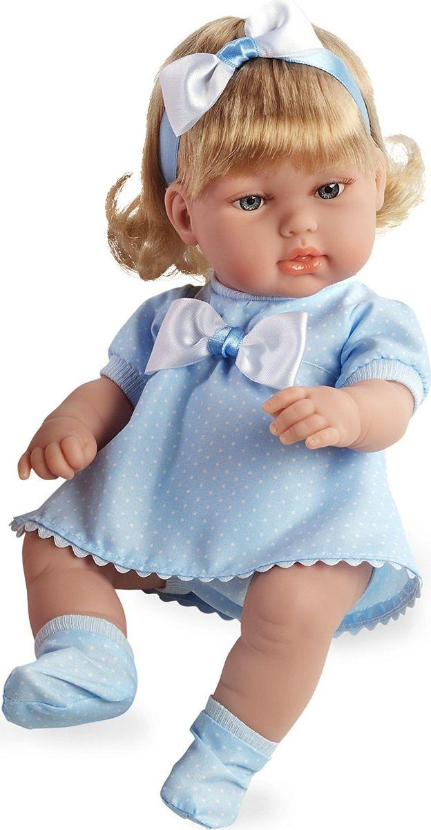 Arias Кукла-блондинка цвет платья голубой 33 смТ59280Изготовлено в Испании! Куклы Arias - это сочетание долгой семейной традиции, красивого дизайна и стремления к совершенству! Талантливые мастера испанской фабрики Arias создали премиальную коллекцию кукол под названием Elegance (Элеганс) - коллекцию, вдохновленную самой нежностью и элегантностью. Весь процесс производства Elegance взлелеян с величайшей заботой, начиная от момента идеи дизайна и тщательного выбора самых натуральных материалов, до создания разнообразных кукольных лиц высочайшей детализации. Благодаря сочетанию высокого качества и ручной работы куклы Aries являются лучшими в своем роде! Светловолосая кукла размером 33см одета в сатиновое розовое платье с отделкой трикотажем и атласом. Винил, использованный при производстве кукол, плотный и приятный на ощупь; он обработан так, что каждая складочка и морщинка выглядит очень естественно. Наряд создан из тех же материалов, что и одежда для новорожденных детей. У куклы ручки и ножки подвижны, глазки не закрываются, её...
