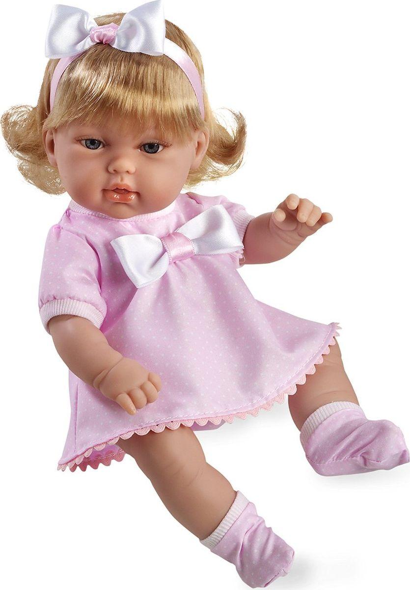 Arias Кукла-блондинка цвет платья розовый 33 см Т59281Т59281Изготовлено в Испании! Куклы Arias - это сочетание долгой семейной традиции, красивого дизайна и стремления к совершенству! Талантливые мастера испанской фабрики Arias создали премиальную коллекцию кукол под названием Elegance (Элеганс) - коллекцию, вдохновленную самой нежностью и элегантностью. Весь процесс производства Elegance взлелеян с величайшей заботой, начиная от момента идеи дизайна и тщательного выбора самых натуральных материалов, до создания разнообразных кукольных лиц высочайшей детализации. Благодаря сочетанию высокого качества и ручной работы куклы Aries являются лучшими в своем роде! Светловолосая кукла размером 33см одета в сатиновое розовое платье с отделкой трикотажем и атласом. Винил, использованный при производстве кукол, плотный и приятный на ощупь; он обработан так, что каждая складочка и морщинка выглядит очень естественно. Наряд создан из тех же материалов, что и одежда для новорожденных детей. У куклы ручки и ножки подвижны, глазки не закрываются, её...