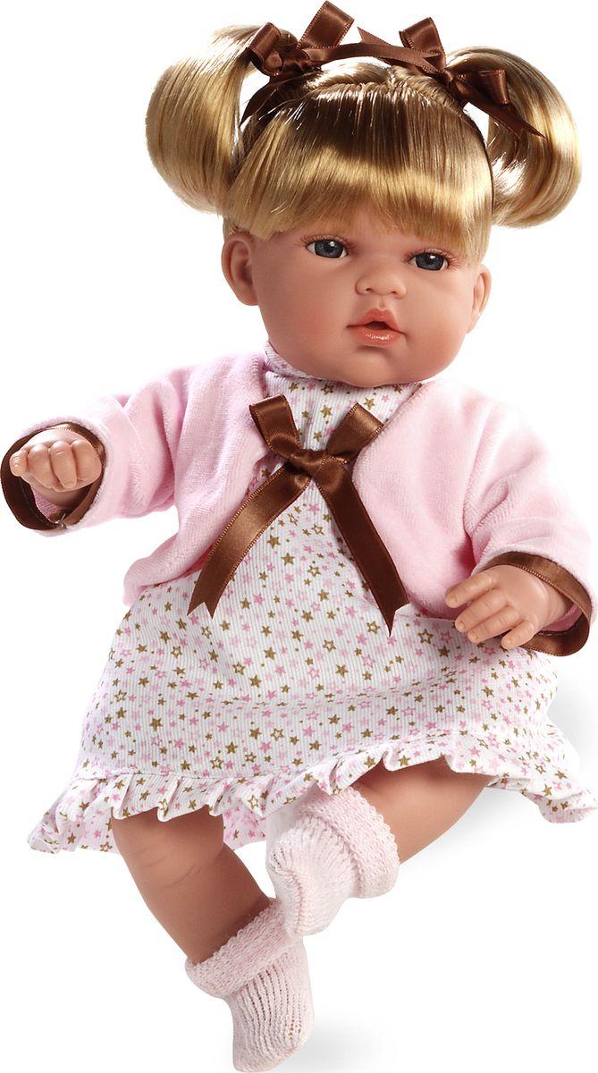 Arias Кукла-блондинка 33 см Т59802Т59802КуклаArias, проработана до мельчайших деталей, поэтому внешне, за исключением размера, игрушка напоминает настоящего годовалого ребенка. Очаровательная куколка одета в платьице и вязаный жакет. Светлые волосы украшают атласные ленточки, а на ножках можно увидеть красивые носочки.