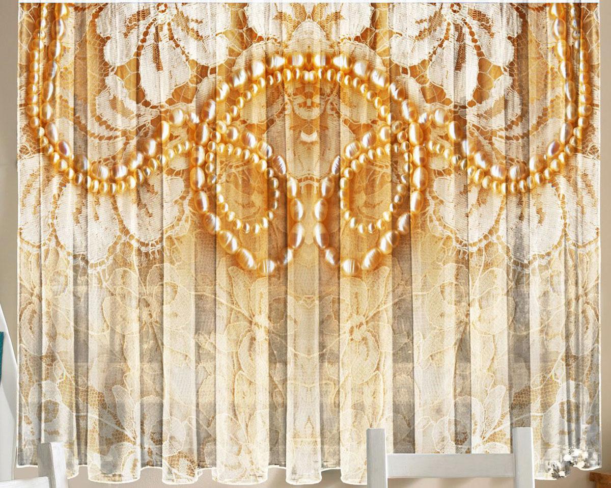 Комплект фототюлей для кухни Zlata Korunka Кружево, на ленте, высота 160 см21290Фототюль - это новинка в мире фотоштор. Для производства используется шифоновая ткань высочайшего качества. Уход: Бережная стирка при 30 градусах, деликатный отжим, отбеливание запрещено. Комплектация и размер: 2 полотна (каждое – шир.145 х выс.160) соединенных поверху, одной шторной лентой. Оттенок изделия может отличаться от представленного на сайте в силу особенностей цветопередачи фототехники и Вашего монитора.